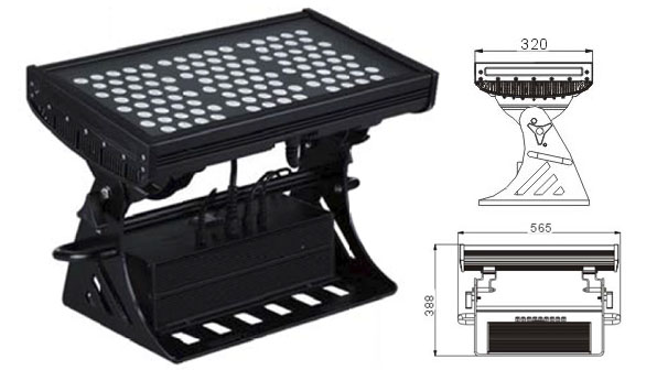 قاد مصنع تشونغشان,الصمام ضوء الفيضانات,250W ساحة IP65 RGB LED ضوء الفيضانات 1, LWW-10-108P, KARNAR INTERNATIONAL GROUP LTD