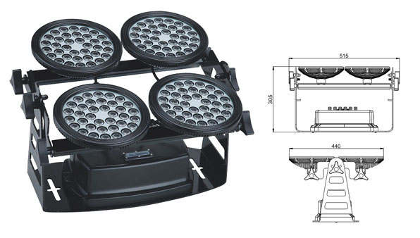 Guangdong led factory,led work light,155W Square LED wall washer 1, LWW-8-144P, KARNAR INTERNATIONAL GROUP LTD
