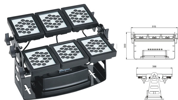 Led drita dmx,e udhëhequr nga tuneli,Rondele mur 220W Square LED 1, LWW-9-108P, KARNAR INTERNATIONAL GROUP LTD